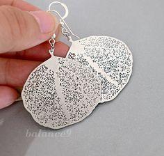 Leaf Earrings lightweight filigree dangle sterling by balance9, $23.00