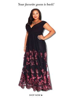 Hello Ladies!! I have been scoping out some of the most gorgeous & trendy plus size dresses of the season to buy online and I wanted to share some of them with YOU!! Most of these dresses can be worn on almost any occasion from the office to the office Christmas party! If you are looking to purchase something especially nice to wear for all of those upcoming holiday parties and events, you have come to the right place!! The following dresses and evening gowns are my Top Ten Plus Size Holiday…