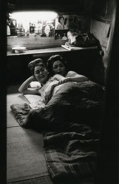Two nightclub dancers in their dressing room.  From Robert Lebeck: Tokyo / Moscow / Leopoldville