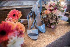 Dusty blue bridal sh