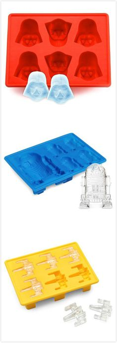 Star Wars Silicon Ice Cube Tray. #summer #cool #kitchen_gadgets