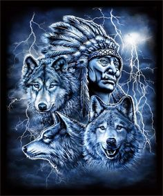 Indian Cheif W Feather Bonnet W Three Wolves Black Tee Shirt Size Xl Adult Native American Wolf, American Indian Girl, American Indian Tattoos, Native American Paintings, Native American Pictures, Native American Wisdom, Native American History, Nicolas Vanier, Indiana