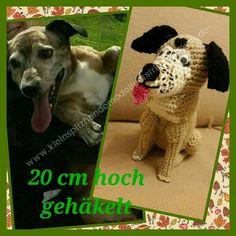 Hund gehäkelt , Amigurumi,Dog ,www.kleinspitzhundemodelfuerstrickpullover.de