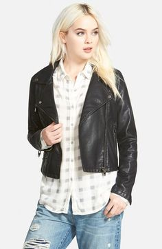 BLANKNYC Faux Leather Moto Jacket available at #Nordstrom