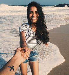 ideas para tomarse fotos en la playa brazo