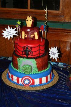 Super Heroes - Dixon's 4th Birthday Cake