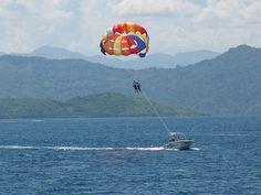 Parasailing in Labadee Haiti, Royal Caribbean's private beach resort