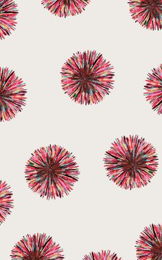 pink abstract urchin