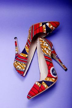 AFRICAN PRINT SHOES Stomp to your own beat using L'AVIYE's uniquely designed African print shoes.