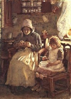 Grandmother and Child, Yorkshire Henry Silkstone Hopwood (1860-1914)