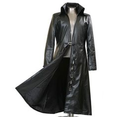Long Black Trench Coats For Men ❤ liked on Polyvore featuring mens and men's clothing