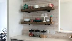 DIY Floating Shelves for my Living Room - Shanty 2 Chic diy cheap DIY Floating Shelves for my Living Room Diy Hanging Planter, Diy Hanging Shelves, Wood Floating Shelves, Pipe Shelves, Wood Shelves, Display Shelves, Shelving, Stairway Storage, Diy Regal