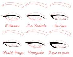 tipos de delineados para ojos caidos - Pesquisa Google