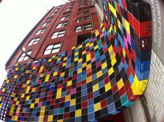 "16"" x 16"" pixels in beautiful #Montreal. #Street_art"