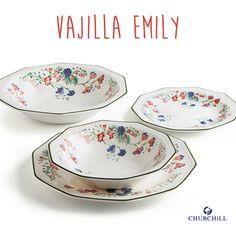 Vajilla Emily de Churchill realizada en loza y evocando a la naturaleza