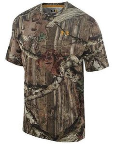 Under Armour 1209610-920-LG Mens HeatGear Evolution Shortsleeve Camo Shirt, Large, Mossy Oak Break-Up Infinity