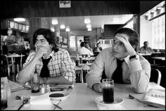 Wayne Miller 1974  Washington DC.   Washington Post reporters Carl Bernstein (left) and Bob Woodward (right), the team who broke the Watergate story and wrote the book 'All the Presidents Men'