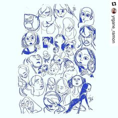 #wooolikes @yrgane_ramon  #random #faces #Yrgane #wooomic #likes #repost #regram #characterdesign #study #expressions #sketch #sketchbook #illustration #illustrationartists