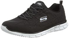 Skechers Active Glider-In the Zone Women's Slip On 11 B(M) US Black-White *** You can find more details by visiting the image link.