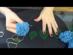 Цветы из бисера. Гортензия. Часть 1/2. Мастер-класс - YouTube