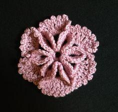 How to Crochet a Flower Pattern #7- 3D