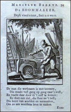 De Boommaaker |Graphic         : Copper engraving From             :  Spiegel van het Menselyk Bedryf Size Picture  :  10 x 15 cm   Year              :  + 1767 Sculp & Del.  : Jan en Kasper Luiken Uitgev.          :  by Erven van F.Houttuyn te Amsterdam, 1767 Originele Kopergravures der Beroepen. | eBay