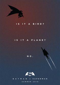 Batman v Superman: Dawn of Justice. Film poster- Fan art