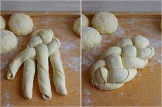 Challah, Garlic, Stuffed Mushrooms, Cooking Recipes, Bread, Vegetables, Foods, Art, Cooking