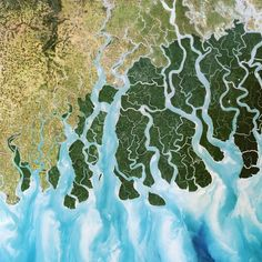 A delta in the Ganges, Bangladesh
