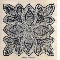 Crochet Pineapple Square Cloth Scarf Pattern Laura Wheeler 687