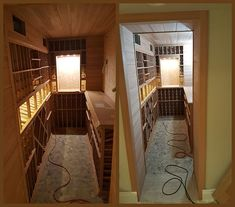 This compact wine cellar project showcases the beauty of unstained All Heart Redwood racks. There are lots of impressive details! All Heart, Wine Cellar, Wine Tasting, Wine Rack, Small Spaces, Compact, Stuff To Do, Things To Come, Projects