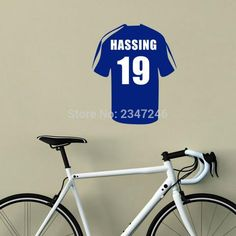 Personalized Soccer Shirt Wall Decal