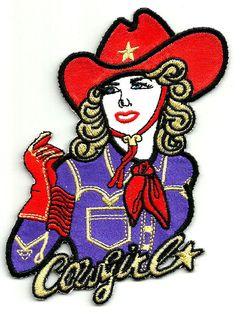 Cowgirl - Western - Rodeo - Purple Shirt - Iron On Applique Patch   | eBay