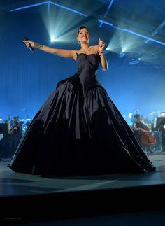 Rihanna performing at the Diamond Ball
