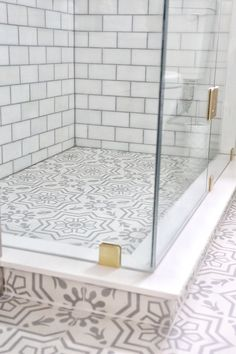 Tip Using the same tile on floors and shower pan makes the bathroom feel bigger…. Tip Using the same tile on floors and shower pan makes the bathroom feel bigger. Keep that in mind when renovating Diy Bathroom Remodel, Bathroom Renos, Bathroom Flooring, Bathroom Renovations, Bathroom Closet, Bathroom Ideas, Bathroom Vanities, Shiplap Bathroom, House Remodeling