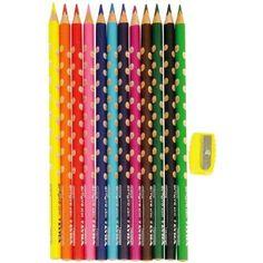 Lyra Groove Slim 12 darabos háromszög alakú színes ceruza készlet ajándék hegyezővel Ft Ár 1,169