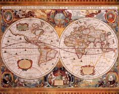 Antique Map, Geographica, c.1630 Posters by Henricus Hondius - at AllPosters.com.au