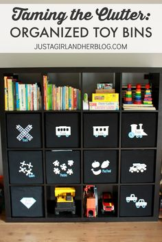 With organized toy bins and this simple system of organization, our family was able to totally revamp the way we used our space!