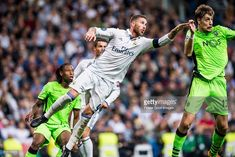 Sergio Ramos of Real Madrid in action during their 2016-17 UEFA Champions League match between Real Madrid vs Sporting Portugal at the Santiago Bernabeu Stadium on 14 September 2016 in Madrid, Spain.