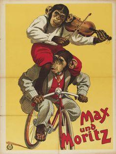 Max und Moritz in a Dutch circus poster found on Genius Chimp.