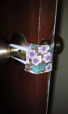 Make your own Door Latch Cover.... I need this for my classroom door so I can always keep it locked