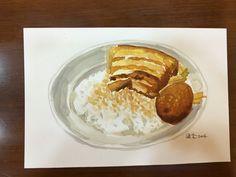 #控肉飯+魯蛋#水彩練習