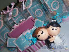 Azul turquesa e rosa ditam as regras desta cerimônia #wedding