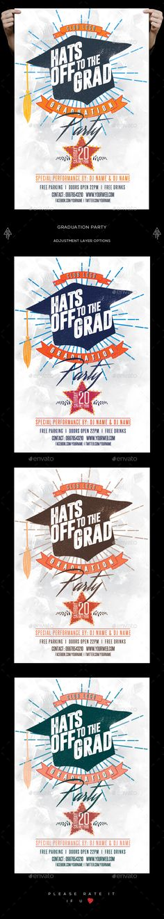 Graduation Invitation Templates Free Photoshop | Graduation