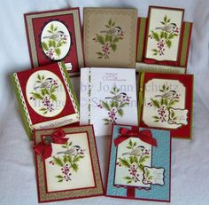 handmade cards: Flock of Chickadees by jreks ... same image on group of cards with different layouts ... delight ful!! ... Stampin' Up!