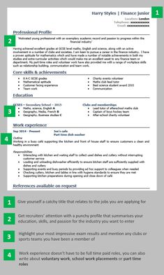School leaver CV example | Create a winning CV with no experience Basic Resume Examples, Professional Resume Examples, Cv Template, Resume Templates, School Template, Templates Free, Writing A Cv, English Writing, Writing Skills