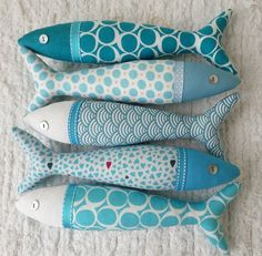 Handmade traditional Portuguese sardines in fun, contemporary fabrics. Handmade traditional Portuguese sardines in fun, contemporary fabrics. Contemporary Bedroom Decor, Contemporary Fabric, Fabric Crafts, Sewing Crafts, Sewing Projects, Diy Home Crafts, Arts And Crafts, Fall Craft Fairs, Fabric Fish