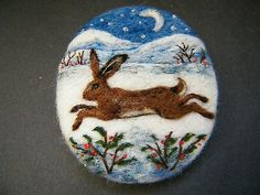 Handmade-needle-felted-brooch-Gift-The-Midwinter-Hare-by-Tracey-Dunn
