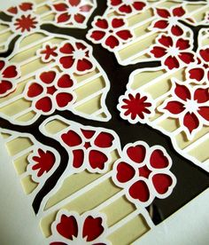 Cherry Blossom Paper Cutting