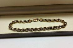 Vintage Armschmuck - Kordelarmband Armband Gold 333 edel Vintage GA123 - ein Designerstück von Atelier-Regina bei DaWanda